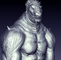 LizardMan. A 3D project by Paco ZDS         - 24.04.2013