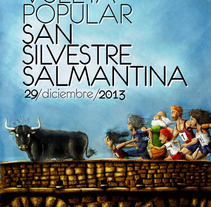 Cartel XXX Vuelta Popular San Silvestre Salmantina. A Illustration, and Advertising project by Adrián Izquierdo         - 11.06.2013