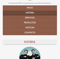 Peluqueria Martínez (Wordpress). A Design, Photograph, and UI / UX project by Israel Mateo Manzano         - 22.06.2013