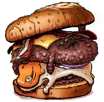 Burger. A Design&Illustration project by M.Tejedo - Jul 22 2013 06:01 PM