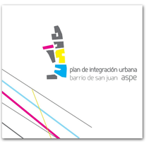Diseño y maquetación de folleto para el Plan de integración Urbana del barrio de San Juan en Aspe . Un proyecto de Diseño e Ilustración de Elena Amérigo Alonso         - 14.08.2013