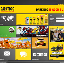 Dark Dog Energydrink - New website. A Design, Photograph, UI / UX, Software Development, Advertising, IT, Br, ing, Identit, Web Development, and Web Design project by Céline Alcaraz - Jun 10 2012 12:00 AM