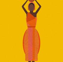 African Woman Concept Art Print. Un proyecto de Ilustración de Laura Minimalia - 10-10-2013