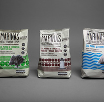 Marinas Mediterranean Crisps. A Design, and Advertising project by Eduardo Crespo - 10.30.2013