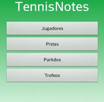 TennisNotes para Android. Un proyecto de Desarrollo de software e Informática de Francisco Pardo         - 01.11.2013