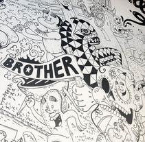Brother Barcelona Mural. Um projeto de Design, Ilustração, Publicidade e Instalações de Diego Limonchy         - 22.11.2013