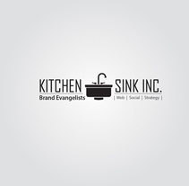 Kitchen Sink logo. A Design&Illustration project by Anna H         - 24.11.2013