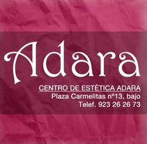 Imagen Adara, Centro de Estética. A Design, and Advertising project by Patricia Sánchez Santos - 24-11-2013