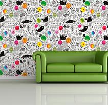 """Les fleurs du mal"" para The Wallery. Un proyecto de Diseño e Ilustración de Amaia Arrazola - Lunes, 25 de noviembre de 2013 00:00:00 +0100"