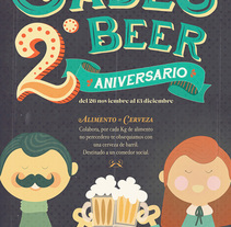 Gades Beer 2º Aniversario. A Design&Illustration project by Alex Ahumada         - 24.11.2013