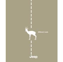 Different roads. Jeep. Un proyecto de Diseño, Ilustración y Publicidad de Pedro  Manero Aranda - Viernes, 29 de noviembre de 2013 00:00:00 +0100