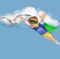 Cariño, eres mi héroe!. A Illustration project by Alex Mojica Mtz - 28-11-2013