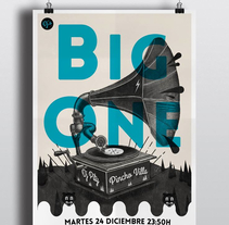 Cartel Big One Dj's. A Design&Illustration project by Sergio Millan         - 22.12.2013