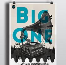 Cartel Big One Dj's. Un proyecto de Diseño e Ilustración de Sergio Millan         - 22.12.2013