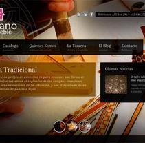Diseño Web ArtesanodelMueble.com. Um projeto de Design de Closemarketing  - 31-10-2013