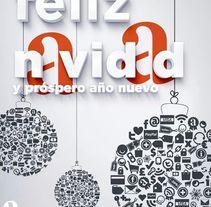 Feliz año nuevo 2014. Un proyecto de Diseño, Ilustración y Publicidad de ALEJANDRO  CALVO TOMAS - 27-12-2013
