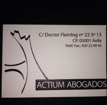 ACTIUM ABOGADOS. A Design, Illustration, and Advertising project by Sofía Dávila Laborda         - 04.01.2014