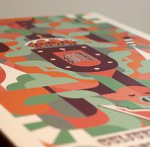 """Propuesta de cartel """"Ferias y fiestas Guijuelo 2013"""". Um projeto de Ilustração e Publicidade de Fco Javier Roman Martinez         - 07.01.2014"""
