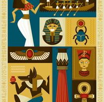 Egyptian icons. Um projeto de Design e Ilustração de Raquel Jove         - 16.01.2014