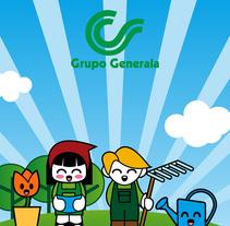 """Grupo Generala, """"Un jardín en mi casa"""". Un proyecto de Diseño, Ilustración y Publicidad de Señor Rosauro         - 19.10.2011"""