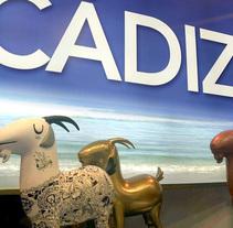 Esculturas de cabras payoyas para Cádiz Turismo en Fitur 2014. Un proyecto de 3D, Escultura y Escenografía de Ras Escenografías  - 19-01-2014