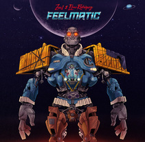 Feelmatic (fondo y tipografía de la mano de Kaikoo Studio). Un proyecto de Ilustración de Ibon Sánchez Rodriguez         - 28.01.2014