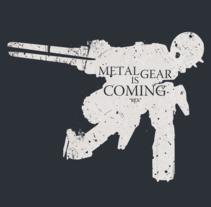 Metal Gear T-shirts. Un proyecto de Ilustración, Diseño gráfico y Diseño de producto de Ari Óscar Martínez Jiménez         - 03.03.2014