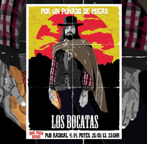 Cartel de concierto de Los bocatas 25/1/13. Un proyecto de Diseño, Ilustración y Diseño gráfico de Fernando Prieto Serrano         - 05.03.2014