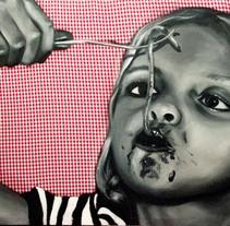 serie niños italianos comiendo. A Fine Art, and Painting project by Judith Cebrián de Pedro         - 10.03.2013