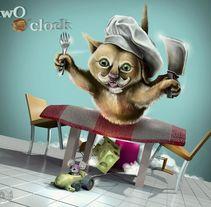 two o´clock. Um projeto de Design, 3D e Design gráfico de osval         - 04.02.2014