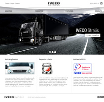 WEB SITE - IVECO. A Design, Web Design, and Web Development project by Luis Miguel Pittol Mendoza         - 15.03.2014