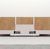 Diseño de Mobiliario | Aparador. A 3D, Furniture Design&Interior Design project by Juanjo Salagre - 22-03-2014