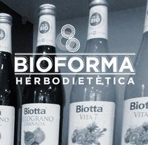 Identidad Corporativa Bioforma Herbodietética. Un proyecto de Br, ing e Identidad, Dirección de arte y Diseño gráfico de Carolina Carbó - Lunes, 24 de marzo de 2014 00:00:00 +0100