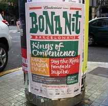 Bona Nit Barcelona. Imagen para festival musical.. A Br, ing, Identit, Graphic Design, T, and pograph project by Ivan Castro - 06-04-2014