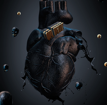 OIL HEART 3D ART. A Design, Advertising, Motion Graphics, 3D, Art Direction, Fine Art, Graphic Design, Multimedia, and Post-Production project by Maceda Design - 08-04-2014