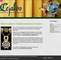 Condecoraciones Cejalvo. Um projeto de Web design de Cristina  Álvarez  - 08-01-2011