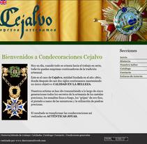 Condecoraciones Cejalvo. A Web Design project by Cristina  Álvarez  - 08-01-2011