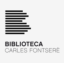 Biblioteca Carles Fontserè. A Br, ing, Identit, Design, and Graphic Design project by Anna Pigem - 01.01.2014