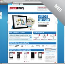 Eurekamovil · Website+Blog. A Design, Art Direction, Design Management, and Web Design project by Julieta Giganti - 31-03-2013