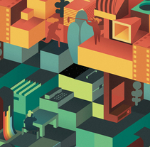 29 Festival Internacional de Cine de Valencia Cinema Jove. A Illustration, Motion Graphics, and Graphic Design project by Casmic Lab  - 17-04-2014