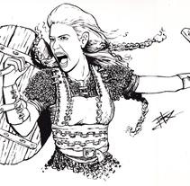 Princesas guerreras. Um projeto de Ilustração de Imanol Etxeberria - 05-05-2014