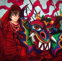 Diablos danzantes de Yare. Un proyecto de Ilustración de Vanessa Trotta - 06-05-2014