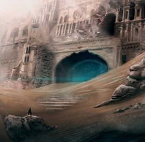 Desert Temple. A Design, Illustration, Fine Art, L, and scape Architecture project by David  Iglesias Martínez - 09-05-2014