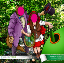Photocalls campaña de reciclaje de vidrio. A Illustration, and Graphic Design project by Imanol Etxeberria         - 16.05.2014