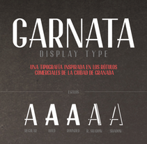GARNATA Display (free font). A Design, T, and pograph project by JuanJo Rivas - 18-05-2014
