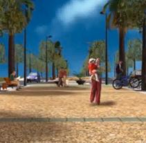 Proyecto 3D, Parc del Botafoc. Um projeto de 3D e Animação de Míriam Broceño Mas - 05-05-2004