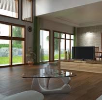 Interior. Um projeto de 3D de Laura Cerrajero Martín         - 29.05.2014