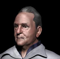 Modelado de mi padre en Zbrush. A 3D project by José Antonio Palomares Santamaria - 03-06-2014
