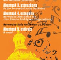 Publicidad Semana de la música de Bermeo. Un proyecto de Publicidad y Diseño gráfico de Gerardo Gujuli Apellaniz - 15-06-2014