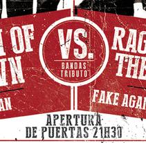 BACK TO THE 90'S | poster + ticket + cabeceras. Un proyecto de Diseño, Ilustración, Publicidad y Diseño gráfico de alejandro escrich - 05-02-2014